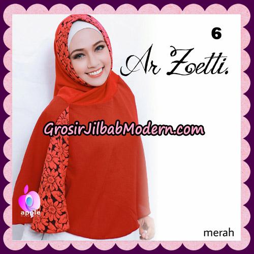 Jilbab Syari Terbaru Khimar Ar Zetti Original By Apple Hijab Brand No 6 Merah