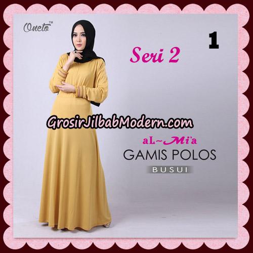 Gamis Polos Busui Seri 2 Original By AlMia Brand No 1