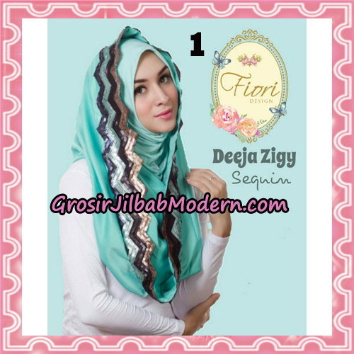 Jilbab Instant Deeja Zigy Sequin Original by Fiori Design No 1