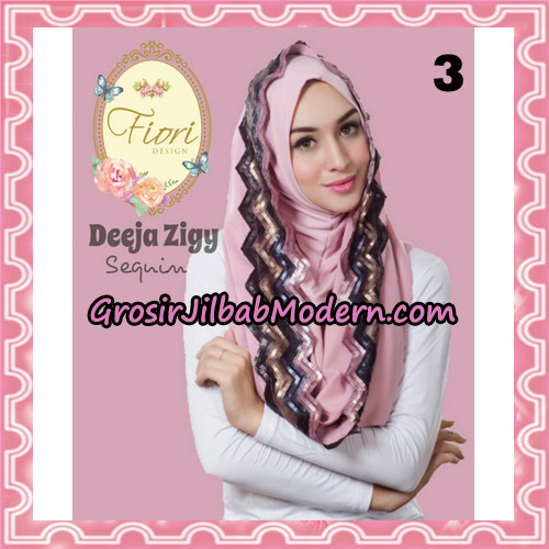 Jilbab Instant Deeja Zigy Sequin Original by Fiori Design No 3