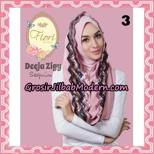 Jilbab Instant Deeja Zigy Sequin Original by Fiori Design No 3