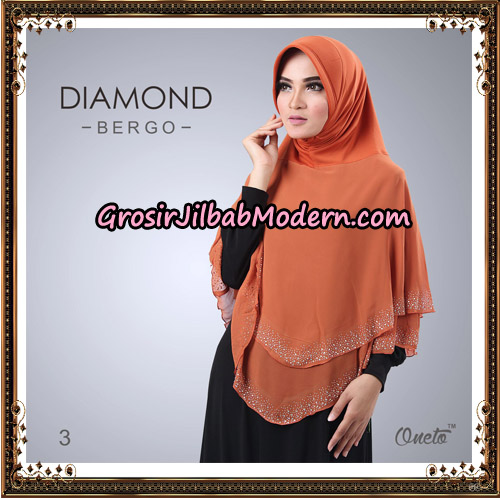 Jilbab Instant Diamond Bergo Elegant Support Oneto Hijab No 3