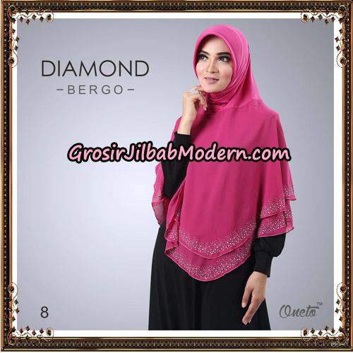 Jilbab Instant Diamond Bergo Elegant Support Oneto Hijab No 8