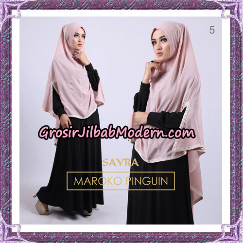 Jilbab Instant Maroko Pinguin Original By Sayra Hijab Brand No 5
