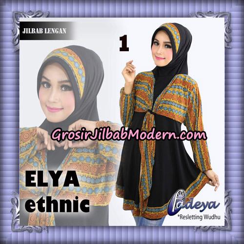 Jilbab Lengan Tunik Elya Ethnic Original By Fadeya Brand No 1