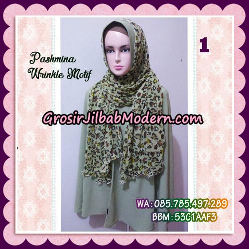 Jilbab Pashmina Bahan Sifone Wrinkle Motif Cantik NO 1