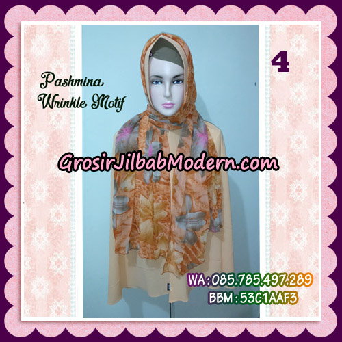 Jilbab Pashmina Bahan Sifone Wrinkle Motif Cantik No 4