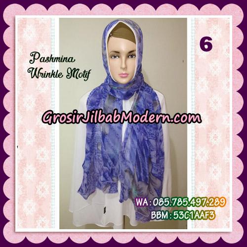 Jilbab Pashmina Bahan Sifone Wrinkle Motif Cantik No 6