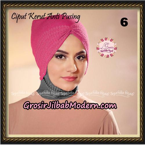 Ciput Kerut Anti Pusing Original By Syahida Brand No 6