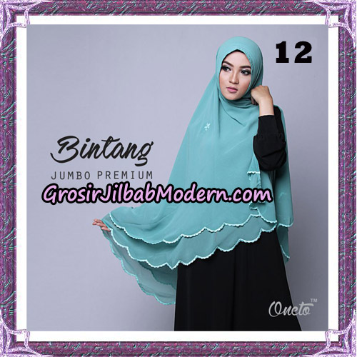Jilbab Cantik Khimar Bintang Jumbo Premium Original By Oneto Hijab Brand No 12