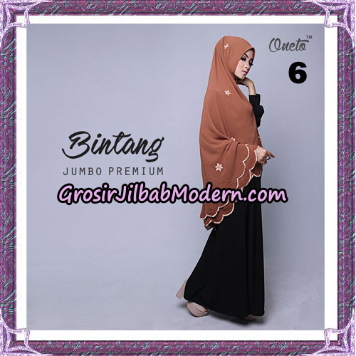 Jilbab Cantik Khimar Bintang Jumbo Premium Original By Oneto Hijab Brand No 6