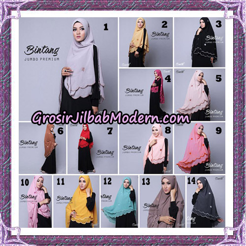 Jilbab Cantik Khimar Bintang Jumbo Premium Original By Oneto Hijab Brand