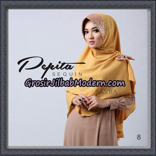 Jilbab Cantik Pepita Sequin Original By Sayra Hijab Brand NO 8
