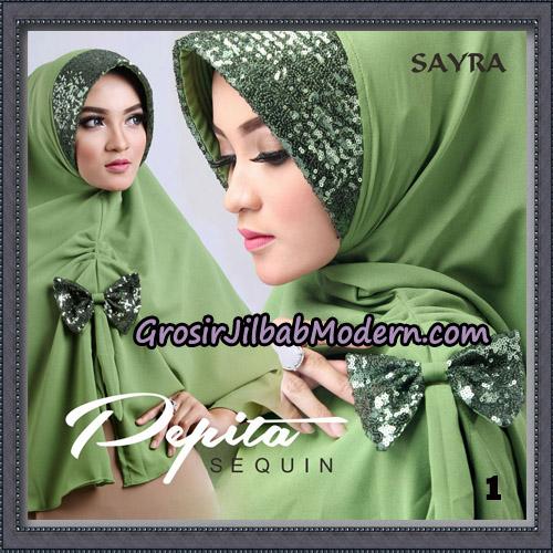 Jilbab Cantik Pepita Sequin Original By Sayra Hijab Brand No 1