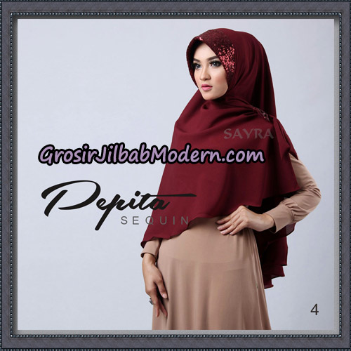 Jilbab Cantik Pepita Sequin Original By Sayra Hijab Brand No 4