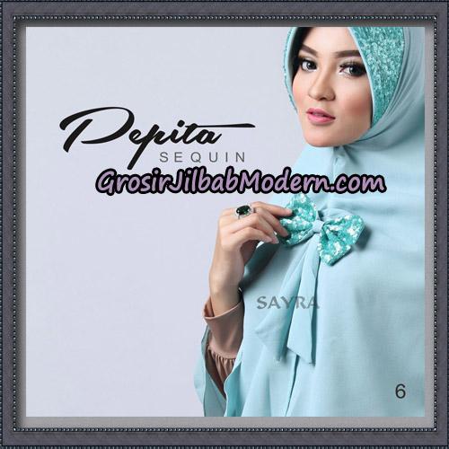 Jilbab Cantik Pepita Sequin Original By Sayra Hijab Brand No 6
