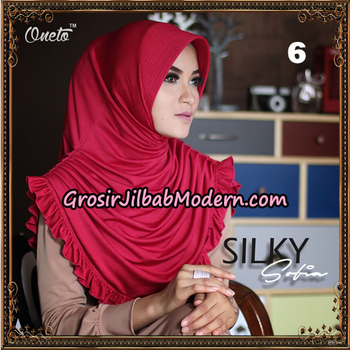 Jilbab Instant Sofia Silky Original By Oneto Hijab Brand NO 6