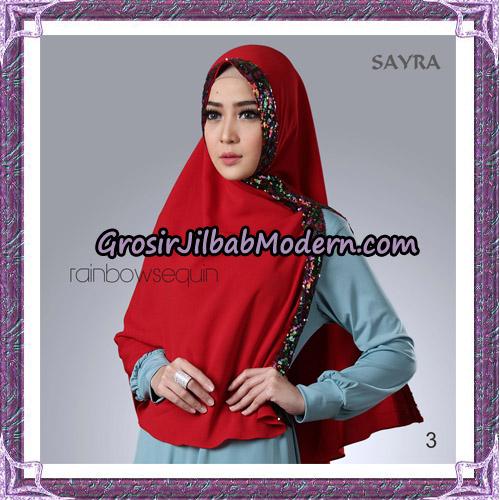 Jilbab Khimar Instant Rainbow Sequin Original By Sayra Hijab Brand No 3