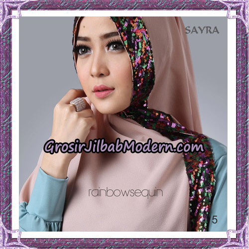 Jilbab Khimar Instant Rainbow Sequin Original By Sayra Hijab Brand No 5