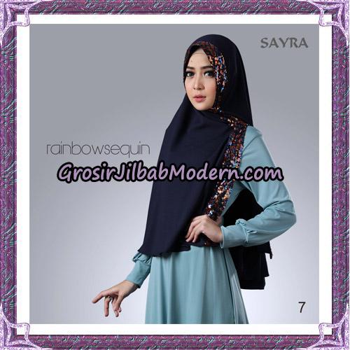 Jilbab Khimar Instant Rainbow Sequin Original By Sayra Hijab Brand No 7