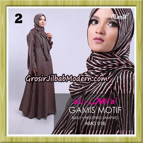 Gamis Motif Stelan AMG 016 Original By AlMia Brand No 2