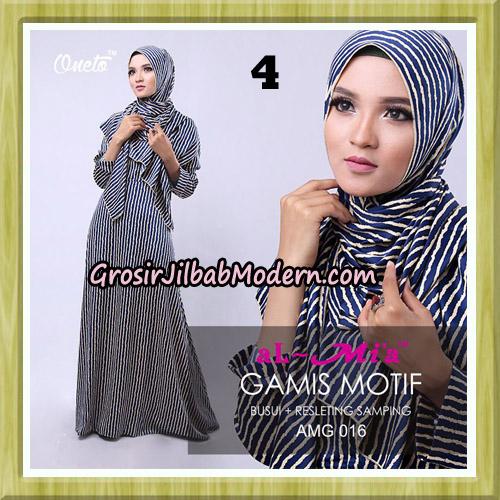 Gamis Motif Stelan AMG 016 Original By AlMia Brand No 4