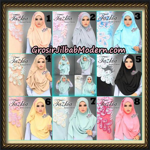 Jilbab Cantik Instan 2 Face Tazkia Original By dQiara Hijab Brand
