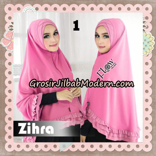 Jilbab Cantik Khimar Silang Zihra Original By Flow Idea No 1