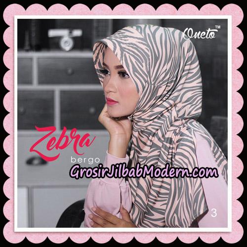 Jilbab Harian Zebra Bergo Original By Oneto Hijab Brand No 3