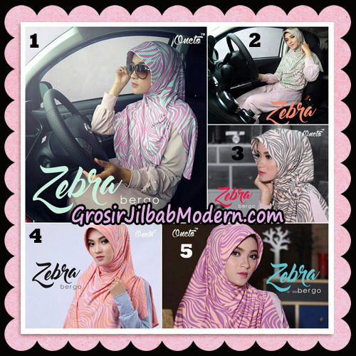 Jilbab Harian Zebra Bergo Original By Oneto Hijab Brand