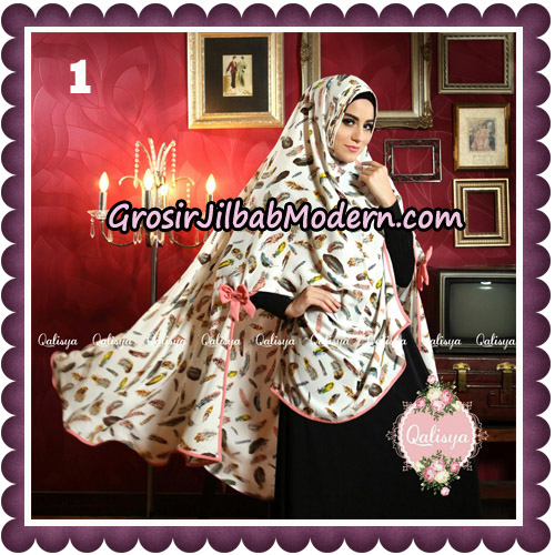 Jilbab Syari Modern Khimar Mymo - Mysha Motif Original by Qalisya Hijab Brand No 1