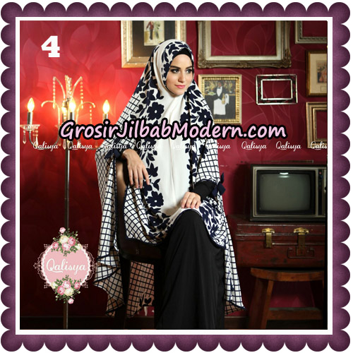 Jilbab Syari Modern Khimar Mymo - Mysha Motif Original by Qalisya Hijab Brand No 4