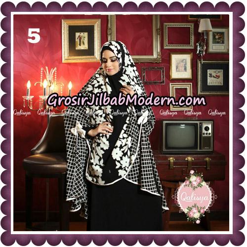 Jilbab Syari Modern Khimar Mymo - Mysha Motif Original by Qalisya Hijab Brand No 5
