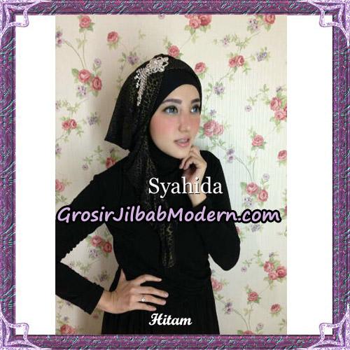 Turban Pesta Instant Sufya Original By Syahida Hijab Brand - Hitam