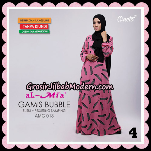 Gamis Bubble Motif Bulu AMG 018 Original By AlMia Brand No 4