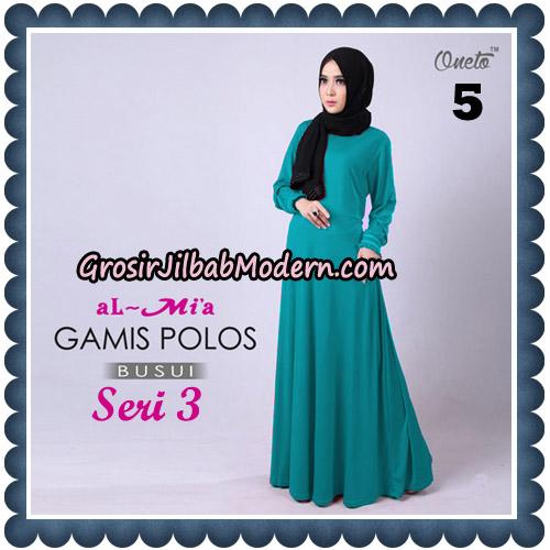 Gamis Polos Busui Seri 3 Original By AlMia Brand No 5