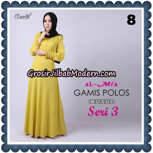 Gamis Polos Busui Seri 3 Original By AlMia Brand No 8