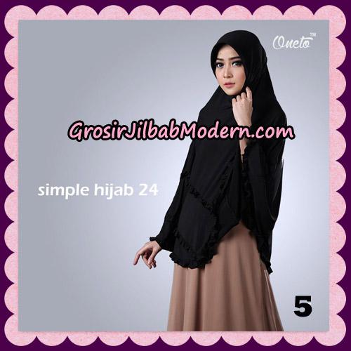 Jilbab Bergo Simple Hijab Seri 24 Original By Firza Hijab Brand NO 5
