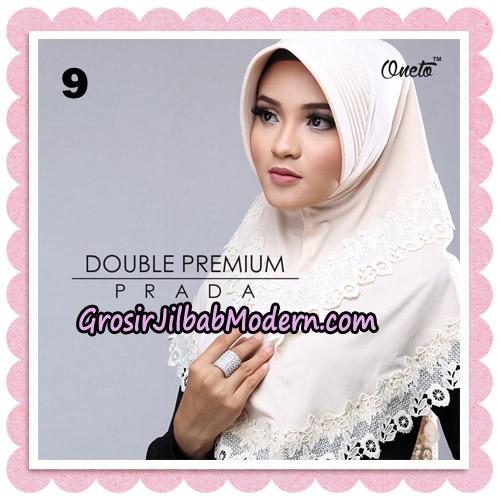 Jilbab Cantik Double Premium Prada Bergo Original By Oneto Hijab Brand NO 9