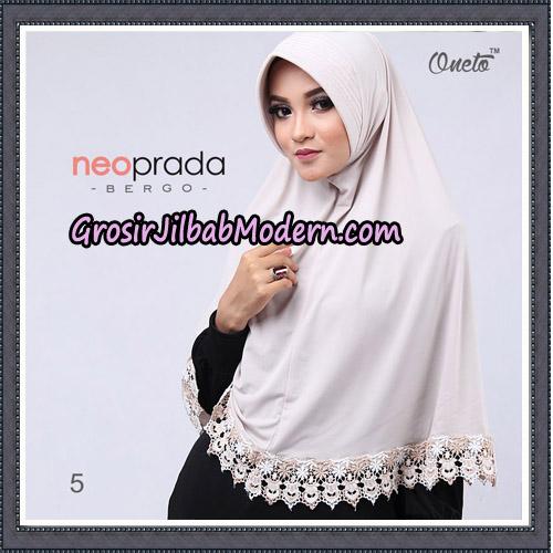 Jilbab Cantik NeoPrada Bergo Original By Oneto Hijab Brand No 5