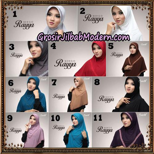 Jilbab Instant Bergo Rayya Original By Oneto Hijab Brand
