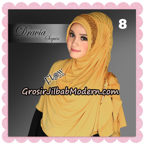 Jilbab Instant Cantik Syria Dravia Sequin Original By Flow Idea NO 8