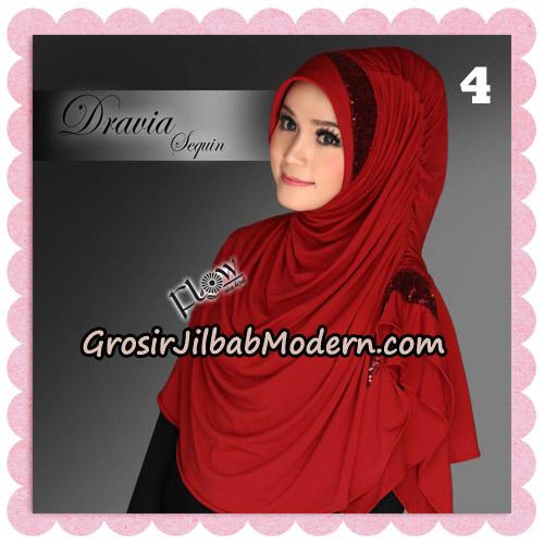 Jilbab Instant Cantik Syria Dravia Sequin Original By Flow Idea No 4