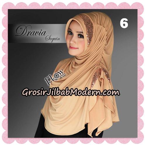 Jilbab Instant Cantik Syria Dravia Sequin Original By Flow Idea No 6