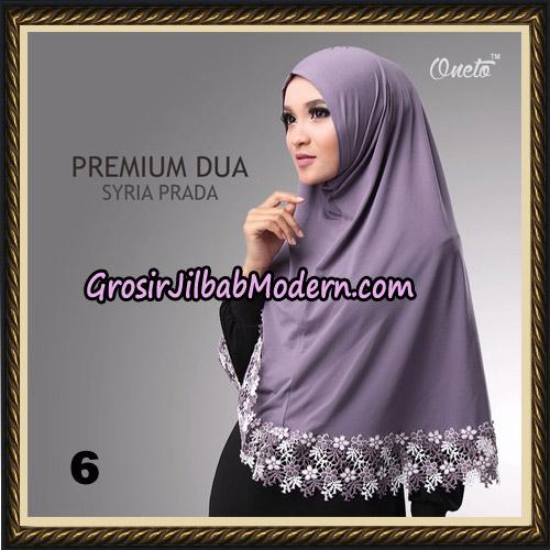 Jilbab Syria Prada Premium Dua Original By Oneto Hijab Brand No 6