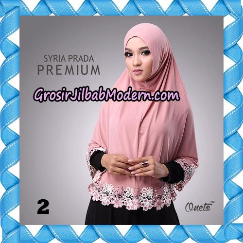 Jilbab Syria Prada Premium Mawar Original By Oneto Hijab Brand No 2