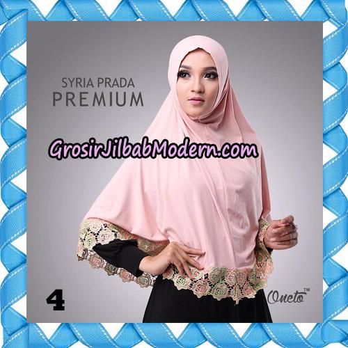 Jilbab Syria Prada Premium Mawar Original By Oneto Hijab Brand No 4