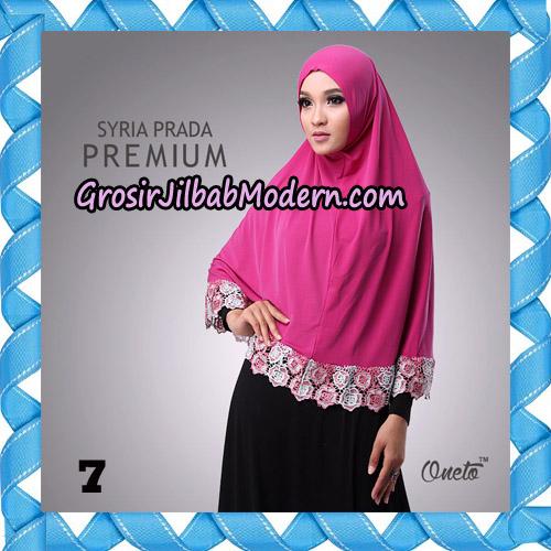 Jilbab Syria Prada Premium Mawar Original By Oneto Hijab Brand No 7