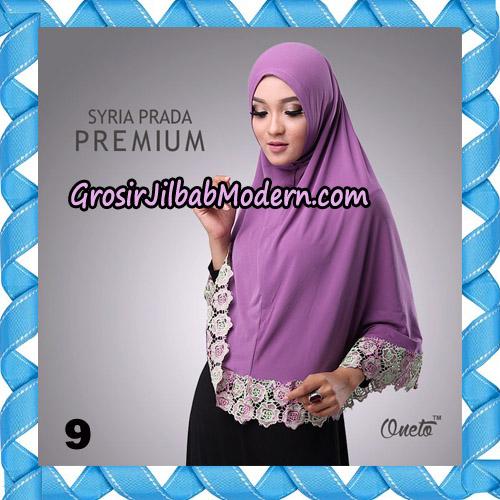 Jilbab Syria Prada Premium Mawar Original By Oneto Hijab Brand No 9