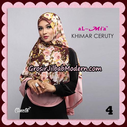 Jilbab Cantik Khimar Ceruty Original By AlMia Brand No 4